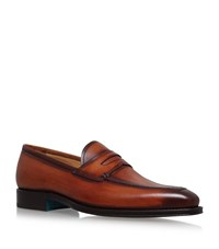 Sutor Mantellassi Olimpo Leather Loafer Male Tan