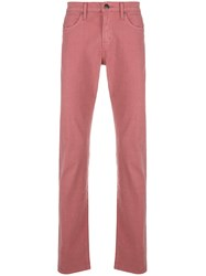 J Brand Kane Slim Fit Trousers Pink And Purple