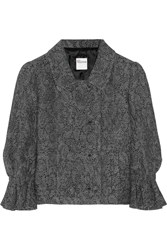 Red Valentino Lace Effect Knitted Jacket