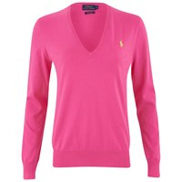 Polo Ralph Lauren Women's V Neck Jumper Knockout Pink