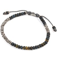 M Cohen M. Beaded Gemstone Bracelet Blue Tiger Eye