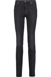 7 For All Mankind Rozie Mid Rise Slim Leg Jeans Dark Gray