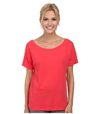 Lole Concord Top Campari Women's Short Sleeve Pullover Red