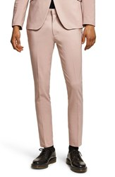 Topman Skinny Fit Suit Trousers Pink