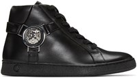 Versus Black Leather High Top Sneakers