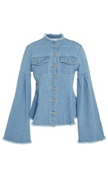 Tanya Taylor Denim Leoni Jacket Blue