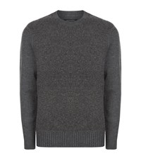 Allsaints Drammen Crew Neck Jumper Male Grey