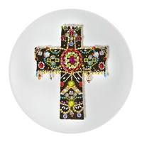 Christian Lacroix Love Who You Want 'Black Cross' Dessert Plate