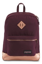 Jansport Super Fx Gym Backpack Purple Dried Fig Rose Gold