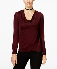 Inc International Concepts Draped Metallic Sweater Only At Macy's Port