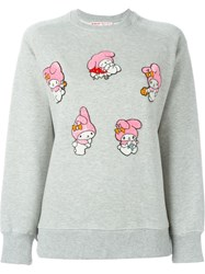 Olympia Le Tan My Melody Patch Sweatshirt Grey