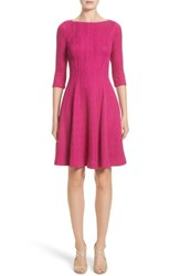 Lela Rose Women's Knit Fit And Flare Dress
