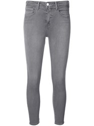 L'agence Skinny Jeans Women Cotton Polyester Spandex Elastane 29 Grey