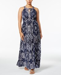 Inc International Concepts I.N.C. Plus Size Beaded Maxi Dress Created For Macy's Couture Paisley