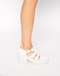 Vagabond Dioon White Gladiator Heeled Shoes