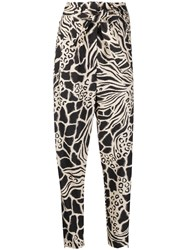 Alberta Ferretti Fantasy Print High Waisted Trousers 60