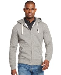 Polo Ralph Lauren Men's Hoodie Core Full Zip Hooded Fleece Heather Grey