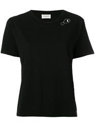 Saint Laurent Heart Logo T Shirt Black