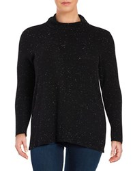 Calvin Klein Plus Flecked Turtleneck Sweater Black