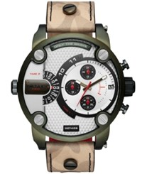 Diesel Men's Little Daddy Camo Leather Strap Watch 52Mm No Color