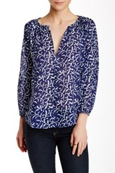 Velvet By Graham And Spencer Ladey Printed 3 4 Length Sleeve Blouse Multi