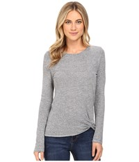 Lanston Twist Front Top Heather Women's Clothing Gray