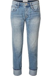 Current Elliott The Fling Distressed Low Rise Slim Boyfriend Jeans Mid Denim