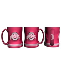 Boelter Brands Brand Ohio State Buckeyes 15 Oz. Relief Mug Team Color