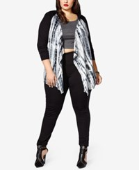 Mblm By Tess Holliday Trendy Plus Size Hooded Knit Jacket Black