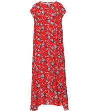 Vetements Floral Printed Dress Red