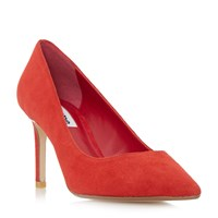 Dune Abbigal Pointed Toe Mid Heel Court Shoes True Red