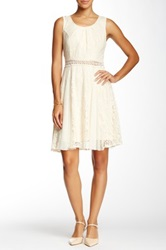 Ryu Lace Sleeveless Dress Beige