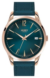 Henry London 'Stratford' Leather Strap Watch 38Mm