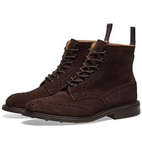 Tricker's Stow Brogue Boot Brown