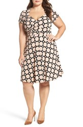 Leota Plus Size Women's Faux Wrap Jersey Dress Havana Moon