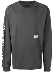 Rta 'Organ Donor' Sweatshirt Grey