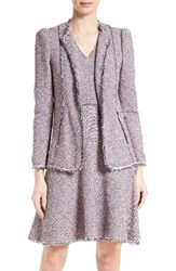 Rebecca Taylor Women's Stretch Tweed Jacket Pink Navy