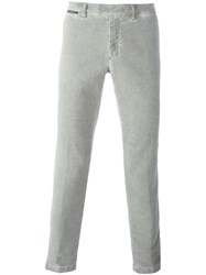 Eleventy Slim Fit Trousers Grey