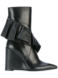 J.W.Anderson Fw03jwa Black Leather Fur Exotic Skins Leather