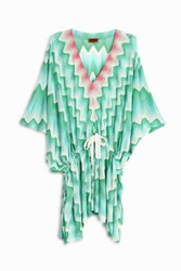 Missoni Zigzag Kaftan Tunic Green