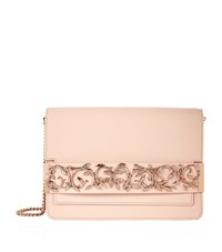 Ralph And Russo Leaf Embellished Eden Clutch Female Beige