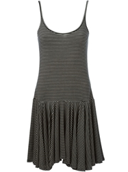 Polo Ralph Lauren Striped Asymmetric Dress Black
