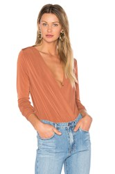 Bcbgeneration Low V Bodysuit Rust