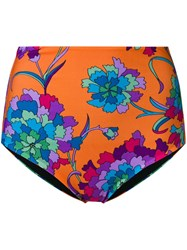 La Doublej Floral Surf Briefs Orange