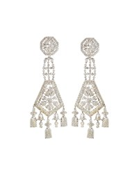 Diana M. Jewels 14K Diamond Dangle Earrings