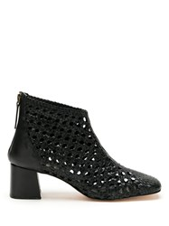 Sarah Chofakian Happiness Cut Out Leather Boots Black