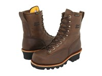 Chippewa 8 Bay Apache Insulated Waterproof Steel Toe Logger Brown Men's Work Boots