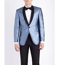 Richard James Steel Glitter Woven Dinner Jacket Light Blue