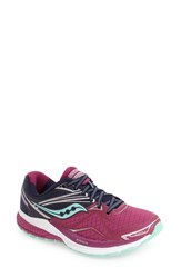 Saucony Women's 'Ride 9' Running Shoe Purple Blue Mint
