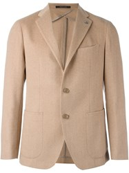 Tagliatore Patch Pocket Blazer Nude And Neutrals